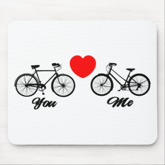 Bicycle I Love You Mouse Pad