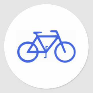 Bicycle Icon Classic Round Sticker