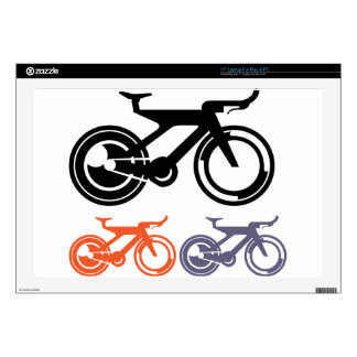 """Bicycle Icon Vector Skins For 17"""" Laptops"""