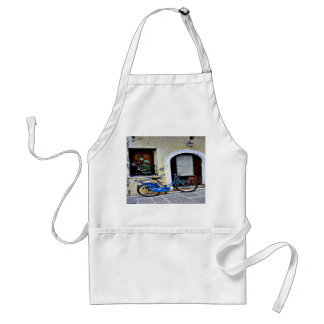 Bicycle In Crete Adult Apron