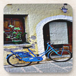 Bicycle In Crete Beverage Coaster