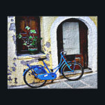 "Bicycle In Crete Canvas Print<br><div class=""desc"">A bicycle rests near a doorway in Crete</div>"