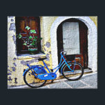 """Bicycle In Crete Canvas Print<br><div class=""""desc"""">A bicycle rests near a doorway in Crete</div>"""