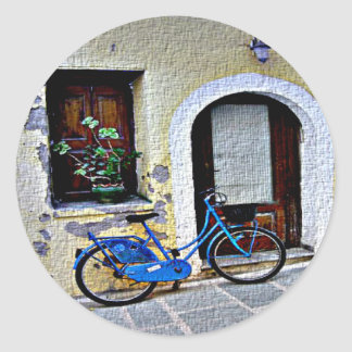 Bicycle In Crete Classic Round Sticker
