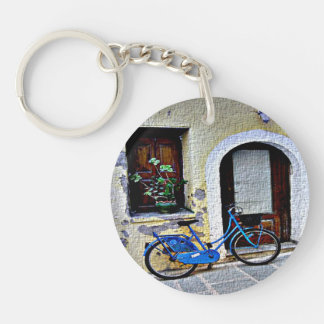 Bicycle In Crete Keychain