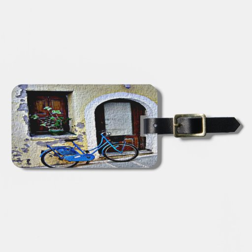 Bicycle In Crete Travel Bag Tag