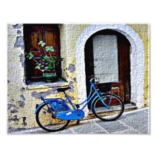 Bicycle In Crete Photograph