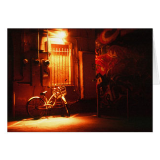 Bicycle in Dark Alley Card