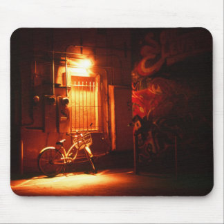 Bicycle in Dark Alley Mouse Pad