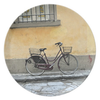 Bicycle in Florence Melamine Plate