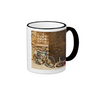 Bicycle in front of a wall, Monteriggioni, Siena Ringer Mug