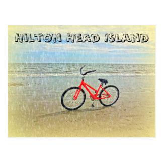 Bicycle in Sun Shower on Hilton Head Island Beach Postcard