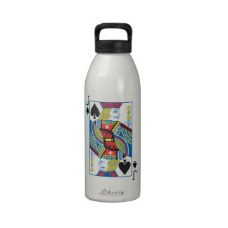 Bicycle® Jack of Spades Reusable Water Bottles