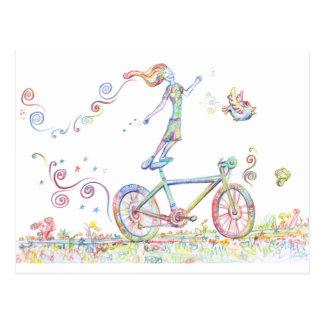 Bicycle Joy Postcard