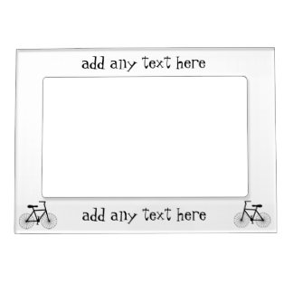 Bicycle Just Add Text Magnetic Photo Frame