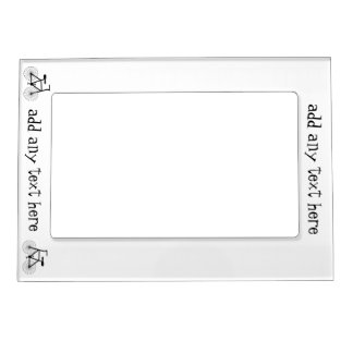 Bicycle Just Add Text Portrait Magnetic Picture Frame