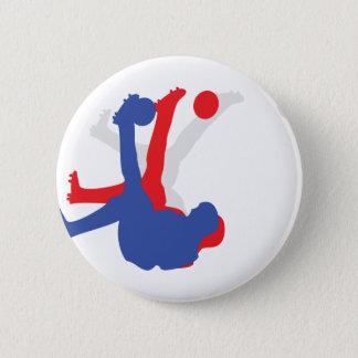 bicycle kick icon pinback button