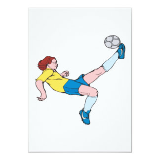 "Bicycle Kick 5"" X 7"" Invitation Card"