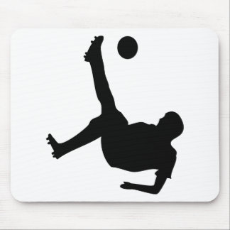 bicycle kick soccer player mouse pad