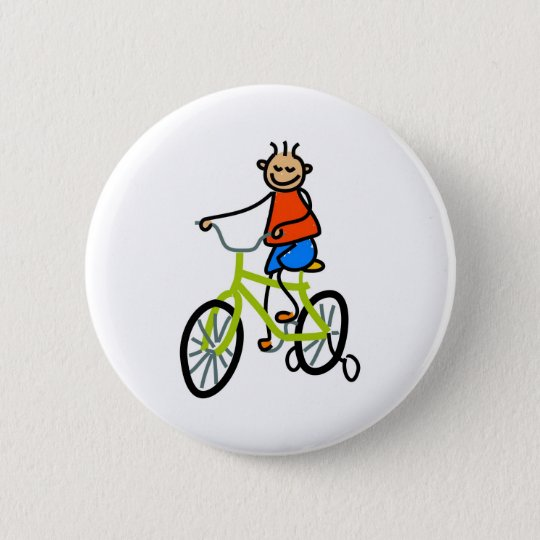 Bicycle Kid Button