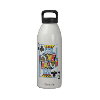 Bicycle® King of Clubs Reusable Water Bottle