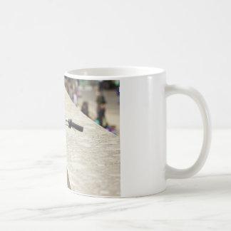 Bicycle Leaning On A Wall, City Photograph Coffee Mug