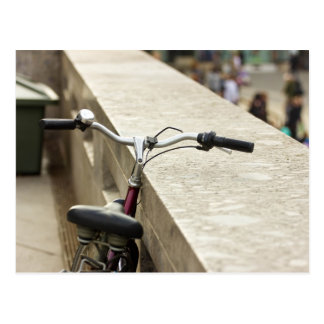 Bicycle Leaning On A Wall, City Photograph Postcard