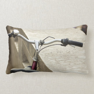 Bicycle Leaning On A Wall, City Photograph Throw Pillow