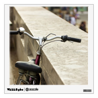 Bicycle Leaning On A Wall, City Photograph Wall Decal