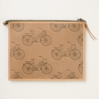 Bicycle Leather Travel Pouch