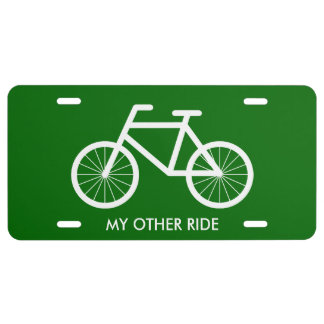 Bicycle license plate for bike riding enthusiasts
