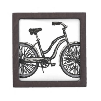 Bicycle Line Drawing Wooden Gift Box +colors
