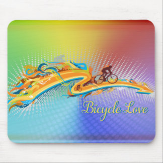 Bicycle Love 1 Mousepad Options