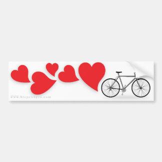 Bicycle Love Bumpersticker Bumper Sticker