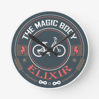 Bicycle, Magic Body Elixir Round Clock