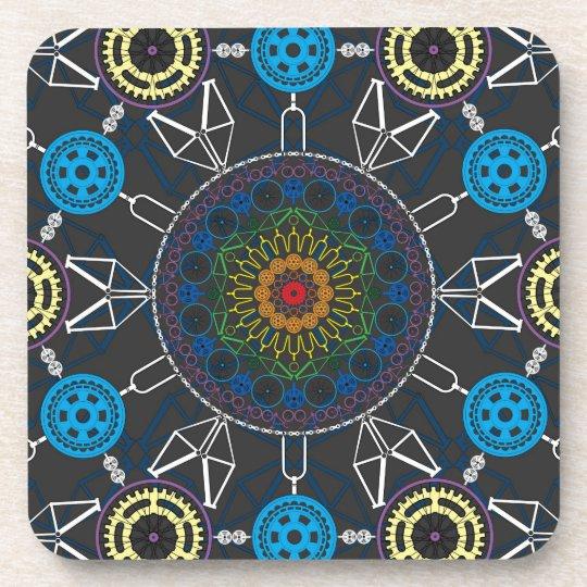 Bicycle Mandala Array Coaster