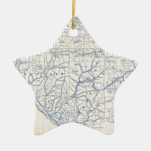 Bicycle Map of Wisconsin (1897) Ornaments