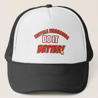 Bicycle mechanic designs trucker hat