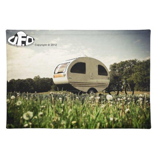 Bicycle Mini Camper Mark II Design Scene 01 Cloth Placemat