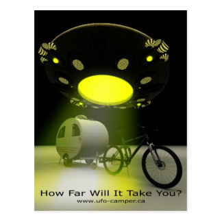 Bicycle Mini Camper Mark II Design UFO Promo 2 Postcard