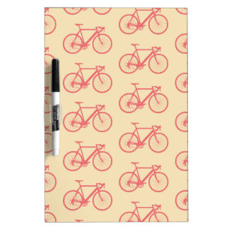 Bicycle Modern Silhouette Coral and Ivory Pattern Dry-Erase Whiteboards