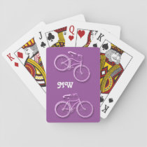 Bicycle monogram purple cyclist playing cards