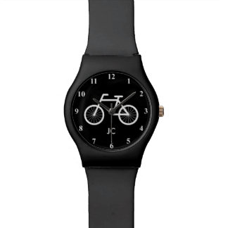 Bicycle monogram watch for bike riding fans