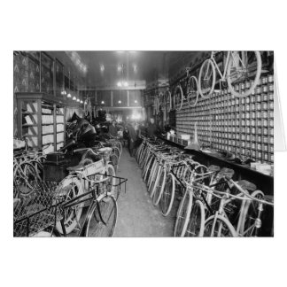 Bicycle & Motorcycle Shop, 1910 Card