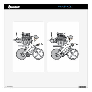 Bicycle Motoring Decal For Kindle Fire