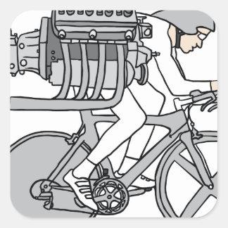 Bicycle Motoring Square Sticker