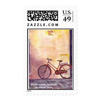Bicycle near the Academia Stamps