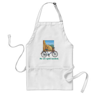 Bicycle:  No Oil Spill Needed Tshirts and Mugs Adult Apron