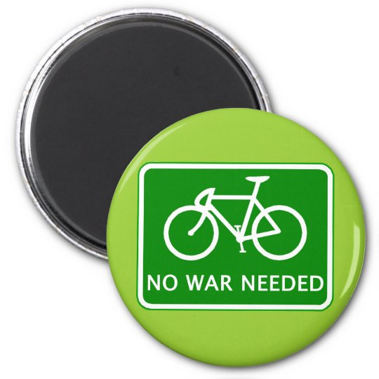 Bicycle No War Needed Products Magnet