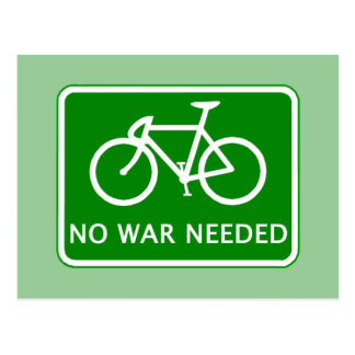 Bicycle No War Needed Products Postcard